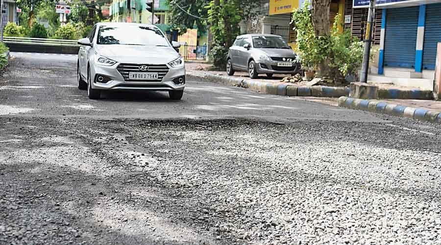 A battered stretch of Second Avenue near Purta Bhavan.
