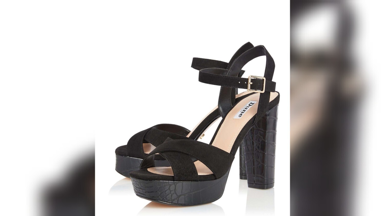 Black Mexican Di Cross Strap Sandals from Dune London