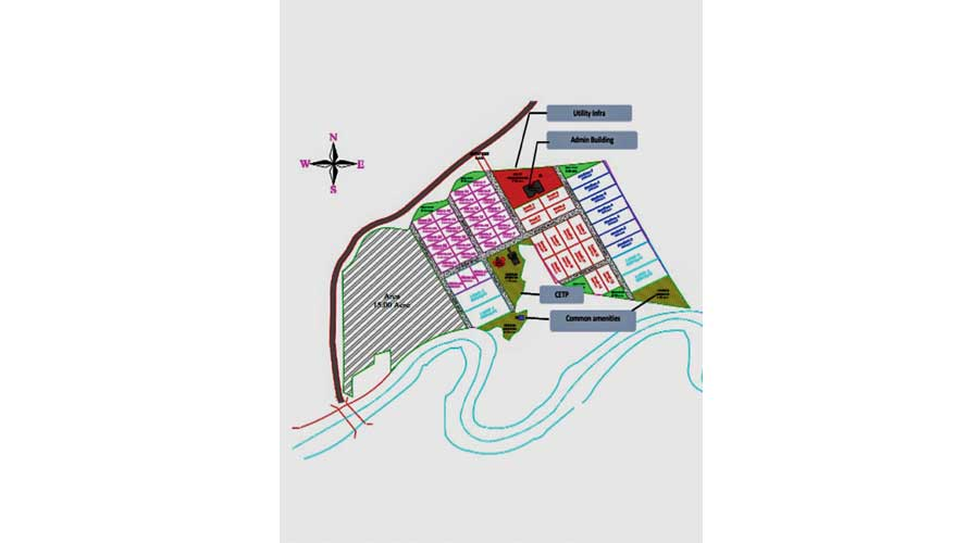 The layout of the Pharma Park Chango in Ranchi.