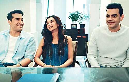 Cyrus Sahukar with Harman Singha and Ira Dubey in Potluck, streaming on SonyLIV