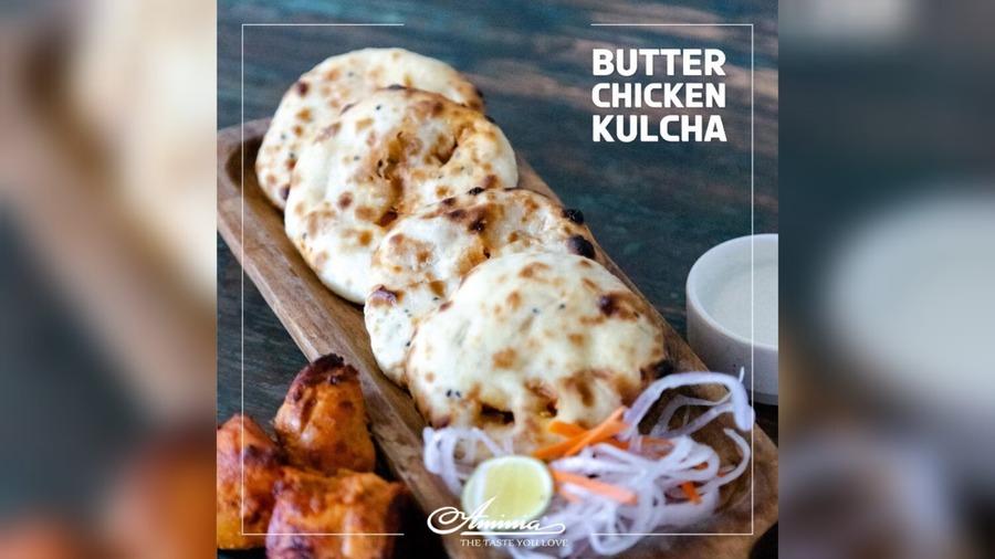 Butter Chicken Kulcha at Aminia