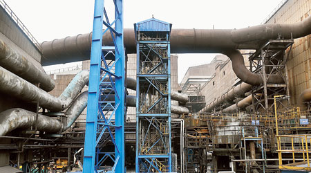 The CCU facility at Tata Steel's Jamshedpur  work on Tuesday