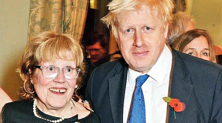 Boris Johnson with his mother Charlotte.