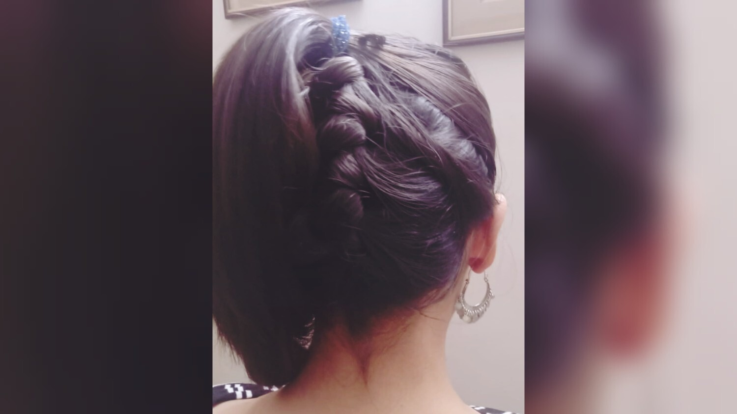 We tried the Dutch braid and this is what it looked like