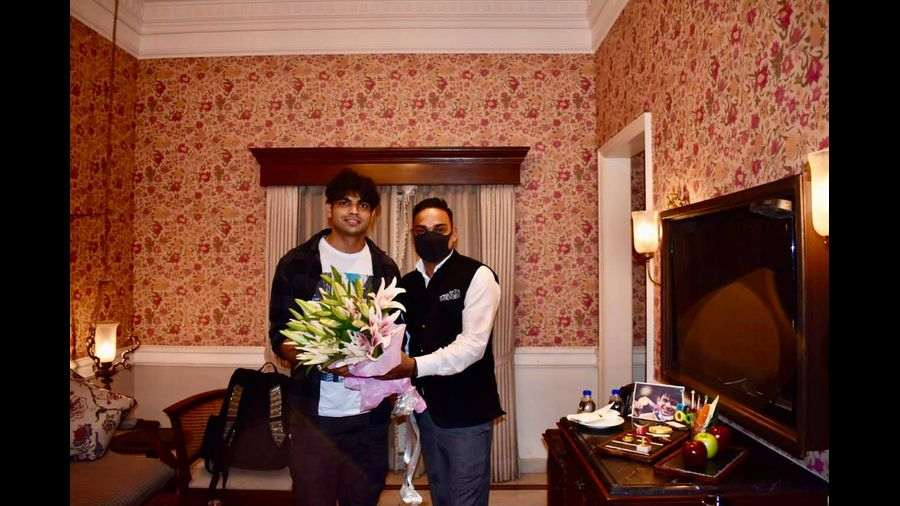 Neeraj in the 'Rajababu's Suite' at Raajkutir