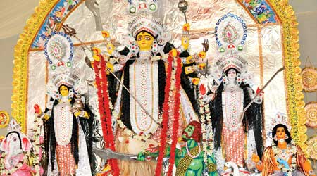 Jamshedpur's Beldih Kalibari Durga Puja  in 2019.