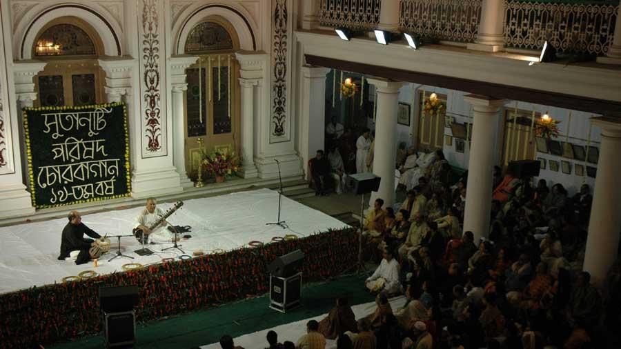 Evening of Indian, a classical music programme organised by Sutanuti Parishad at Lahabari.