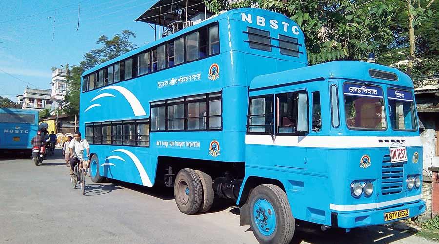 A double-decker bus.