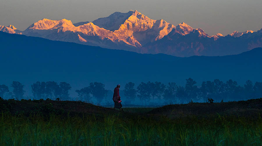 The world's third-highest peak, clicked from Bangladesh last year