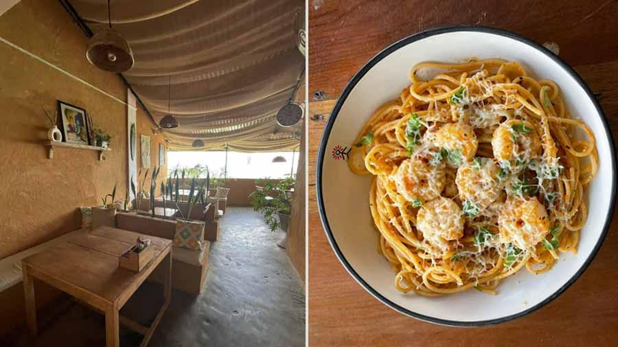 Rustic vibe and 'Jhingey Dau' spaghetti at Art Cafe