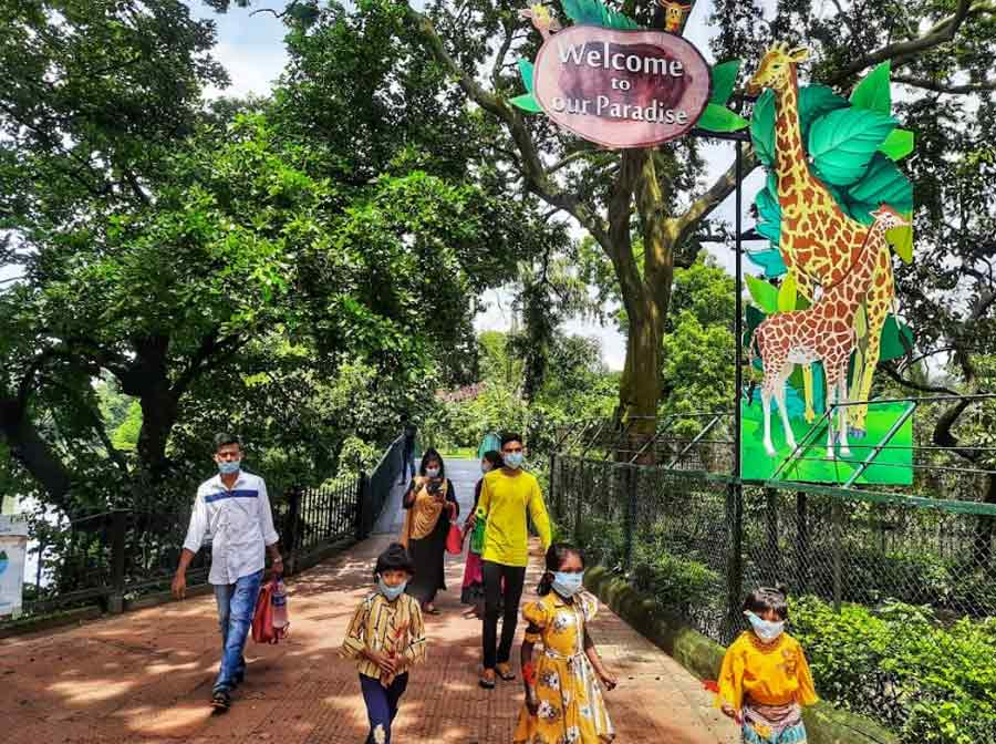 CALL OF THE WILD: Visitors at Alipore zoo in Kolkata on Wednesday, September 15, when it reopened after a nearly five-month break prompted by the pandemic