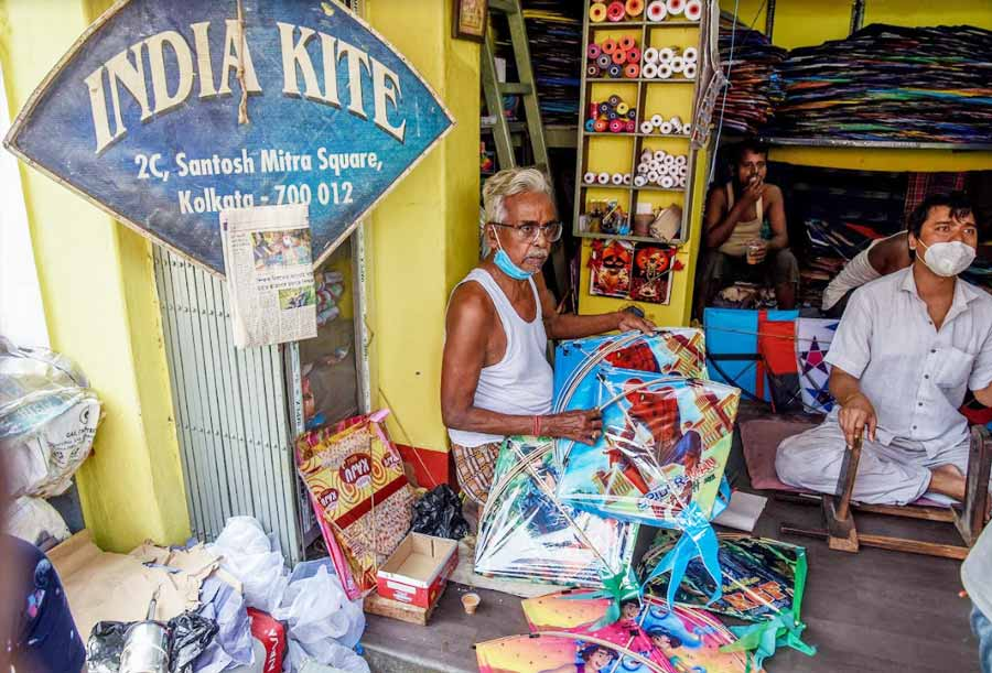 TIME CAPSULE: A kite store in north Kolkata on Thursday, September 16, a day ahead of Vishwakarma Puja when the skies of Kolkata are traditionally dotted with kites