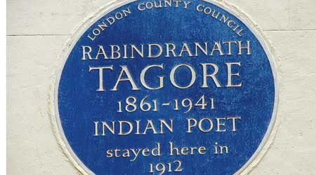 The Blue Plaque outside  the London house