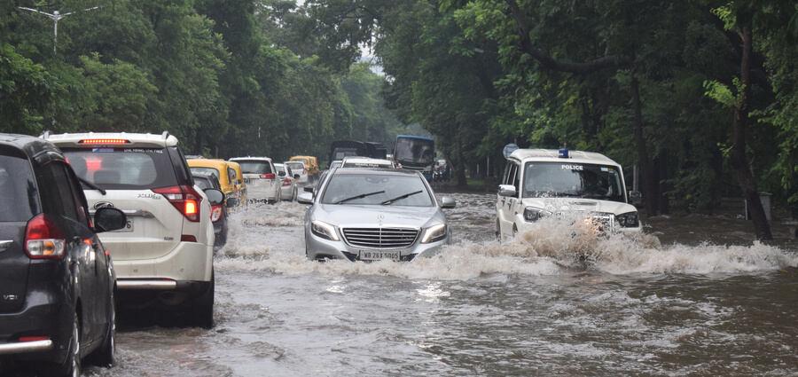 In pictures: Rain batters Kolkata