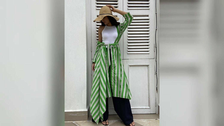 Silk Limone Overlay by Kolkata brand HAŃSHU