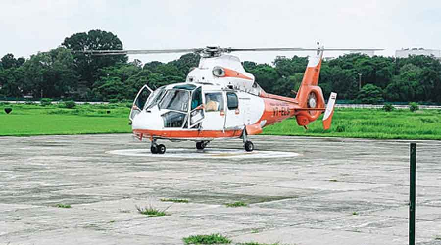 In other districts, temporary helipads are made during visits of dignitaries, such as the chief minister or the Prime Minister.