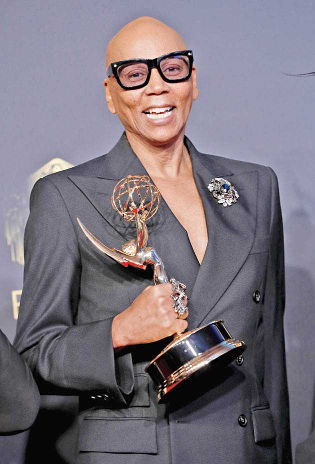 RuPaul with his Emmy