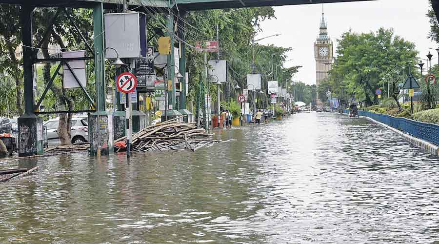 A flooded stretch in Sreebhumi on Tuesday.