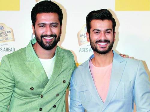 Sunny with brother Vicky Kaushal