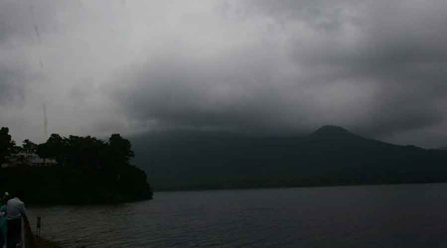 Dark cloud cover over Jamshedpur on Wednesday.