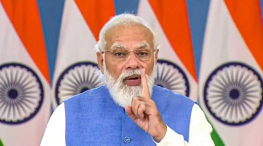 Prime Minister Narendra Modi addresses the Global Covid-19 Summit, via video conferencing, in Washington DC