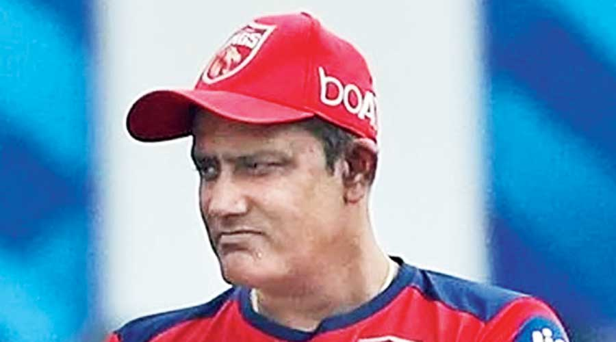 Anil Kumble before the match on Tuesday
