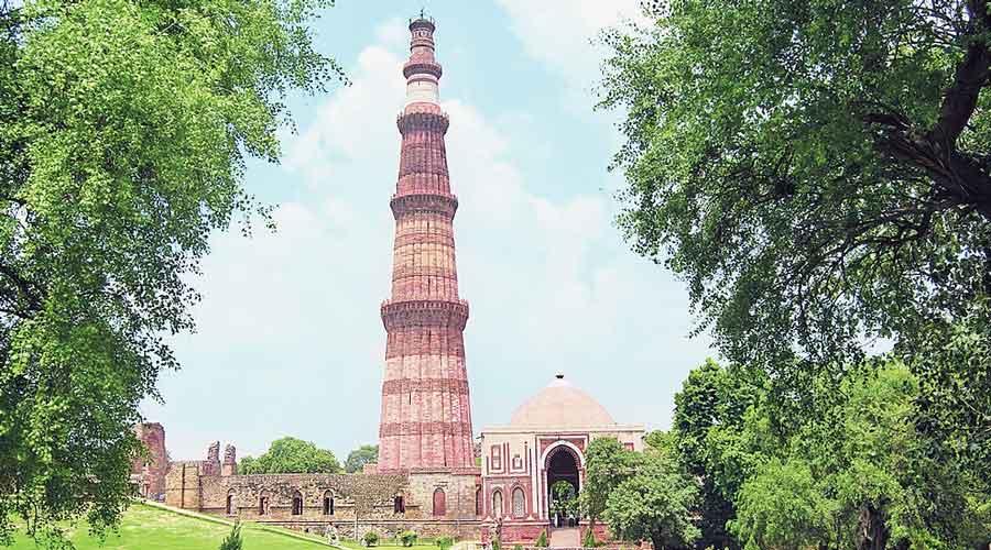 The Qutab Minar.