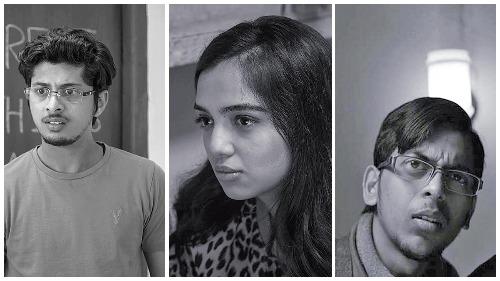 (L-R) Mayur More as Vaibhav,  Ahsaas Channa as Shivangi , Ranjan Raj as Meena