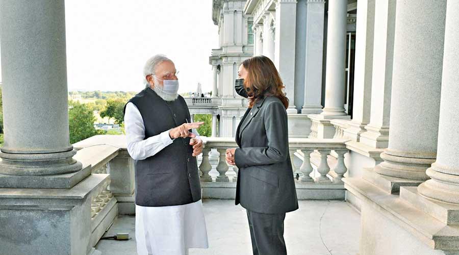 Modi with Harris