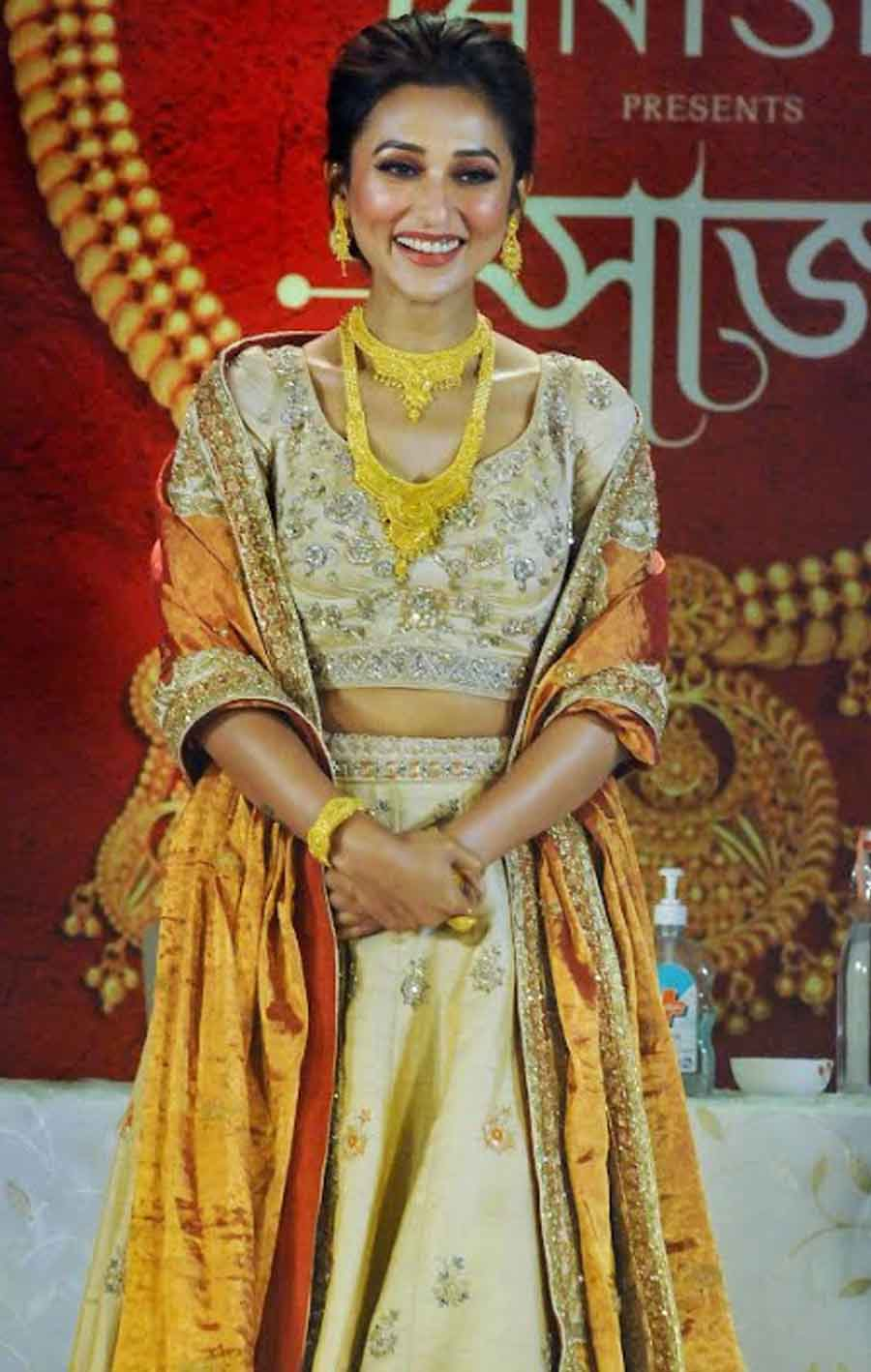 GLAM AVATAR: Actor turned MP Mimi Chakraborty at a jewellery launch event in Kolkata on Tuesday, September 21