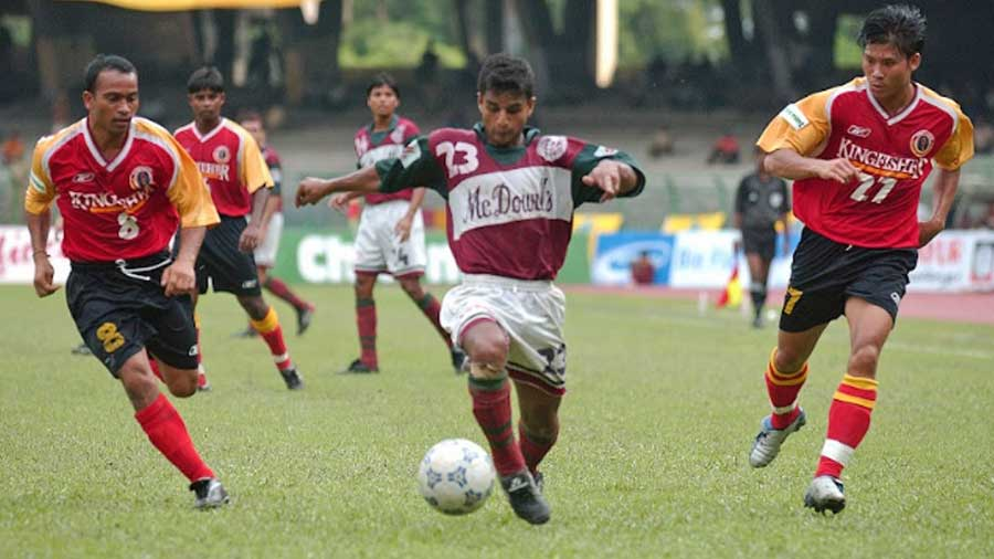'Club to us was restricted to Mohun Bagan and East Bengal, maroon-and-green jerseys fighting with red-and-yellow'