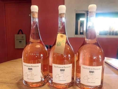 Rose wine from Les Clos de Paulilles Winery