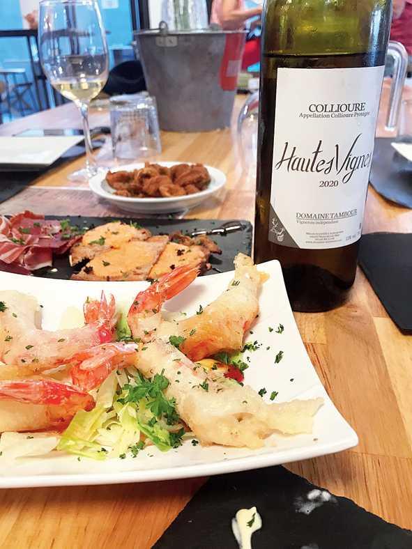 Tapas and Collioure wine