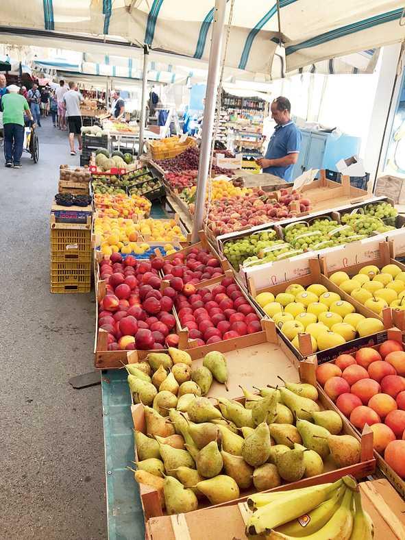 A farmers' market