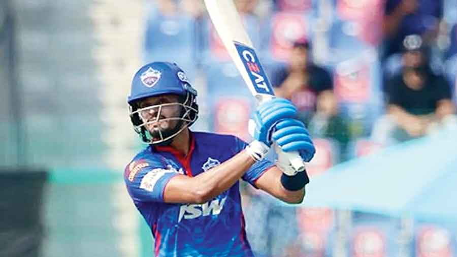 Man of the Match Shreyas Iyer of Delhi Capitals during his 32-ball 43 against Rajasthan Royals in Abu Dhabi on Saturday.