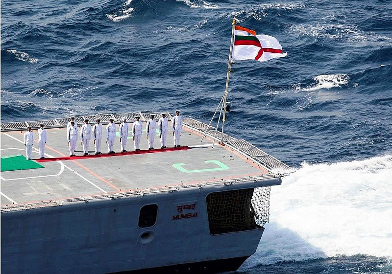 INS Mumbai during the Indian Navy's International Fleet Review, 2016. Traditionally, the Indian navy has been the neglected branch of the armed forces. An evaluation of the naval budget pie would reveal declining trends.