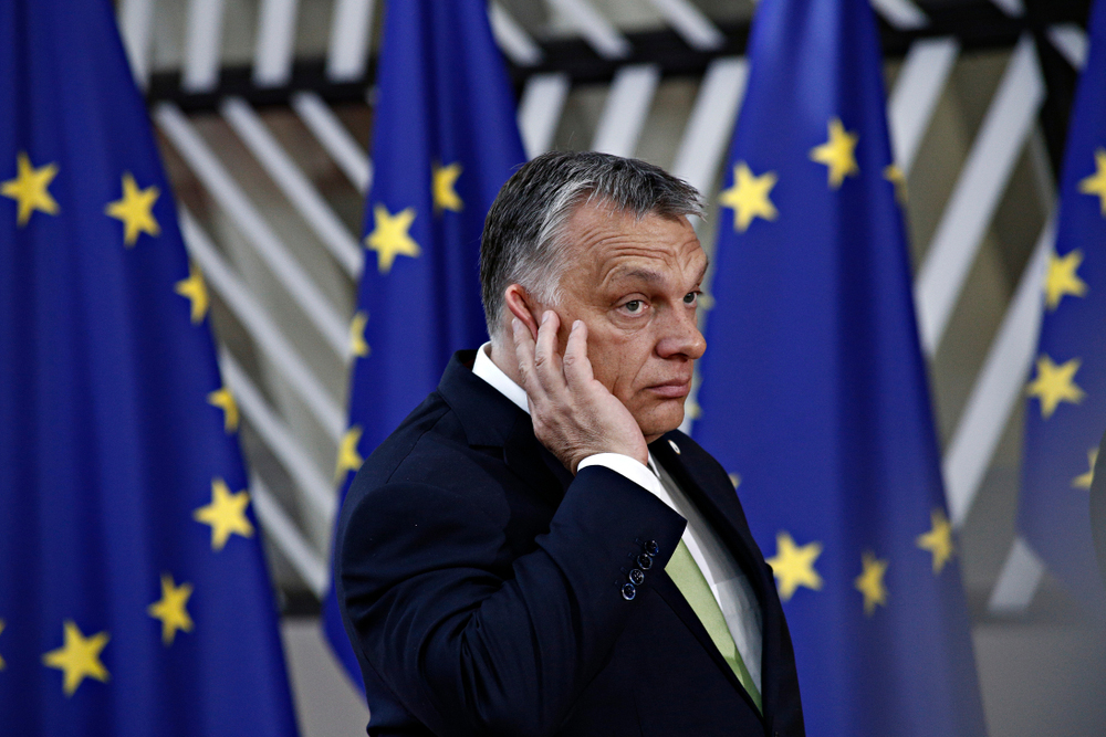 Viktor Orbán, Hungary's prime minister and de facto supreme leader. This year, Freedom House downgraded Hungary to the status of 'partly free' country, the only EU member state to earn that dishonour.