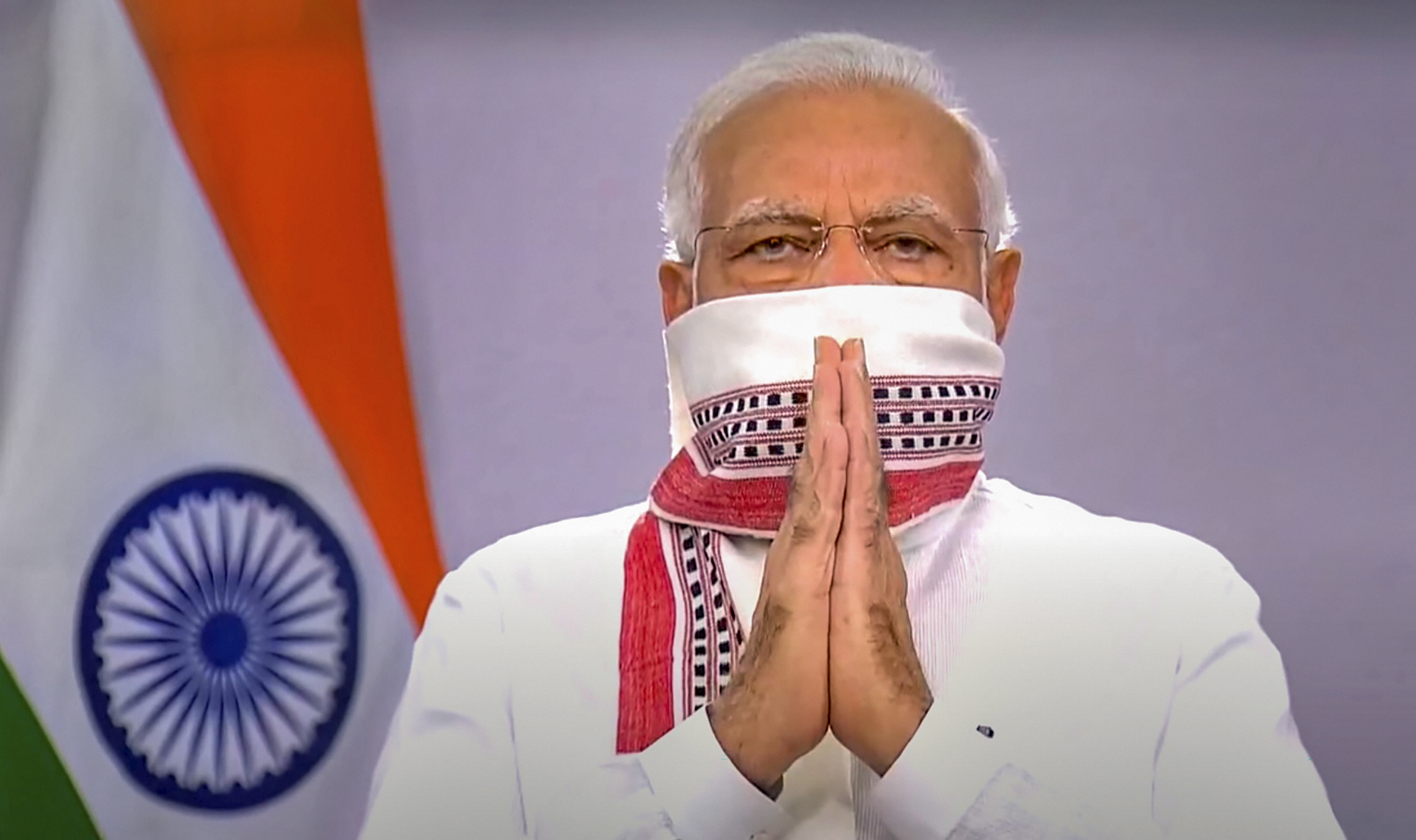 Prime Minister Narendra Modi changed the profile photo of his personal Twitter page moments after his address to the nation on the extension of coronavirus lockdown, Tuesday, April 14, 2020.