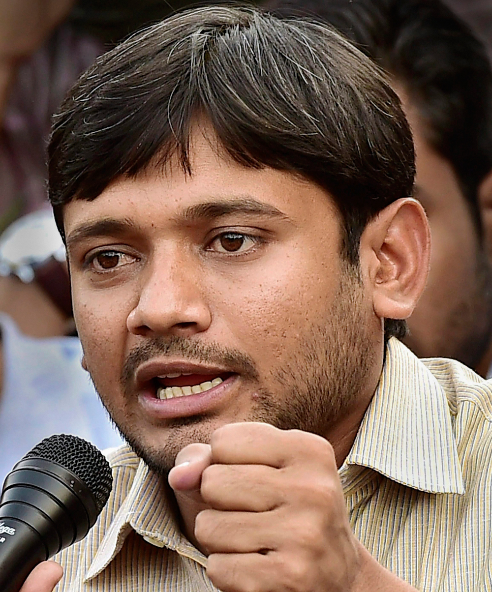 In this file photo dated March 4, 2016, Kanhaiya Kumar addresses a news conference in New Delhi.