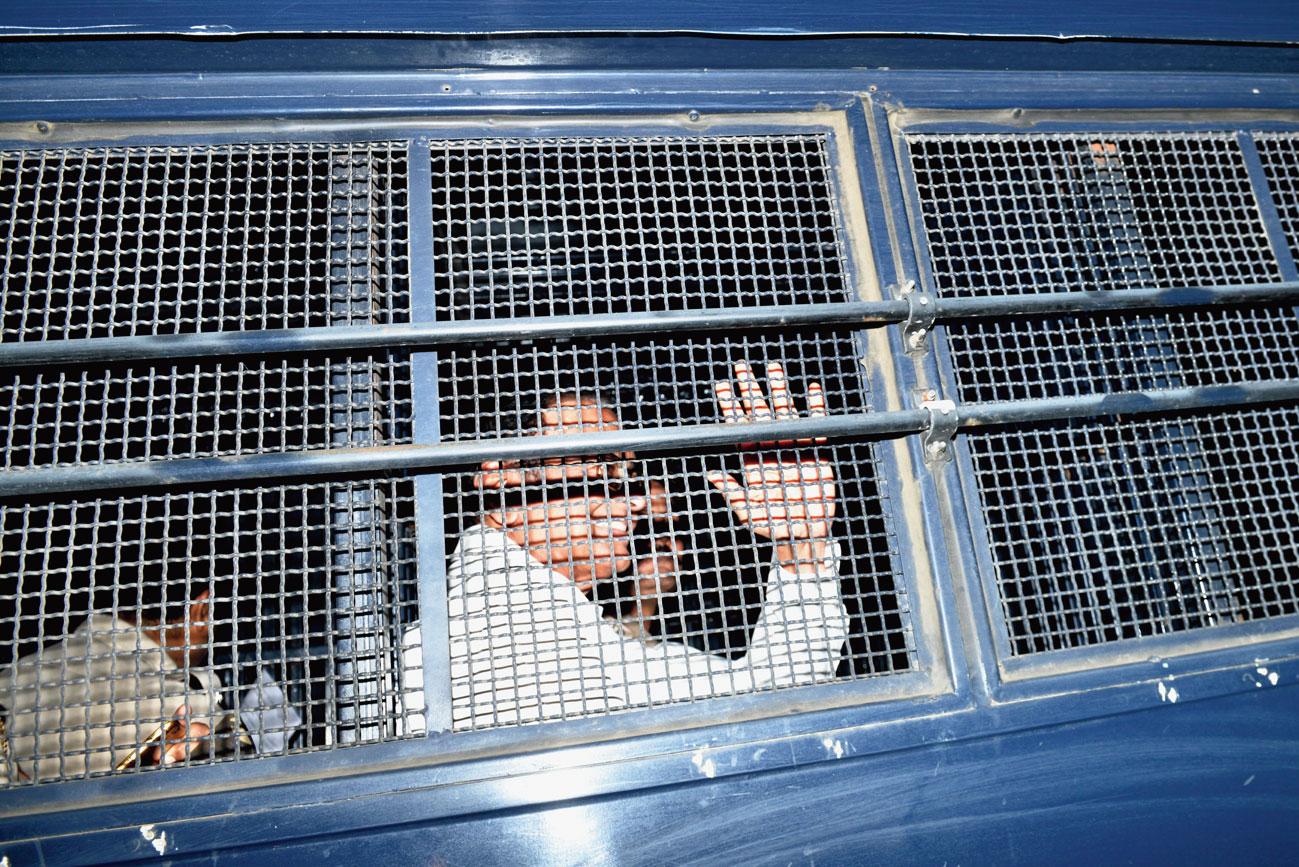 Senior Congress leader P. Chidambaram being taken to Tihar jail on Thursday, September 5, 2019