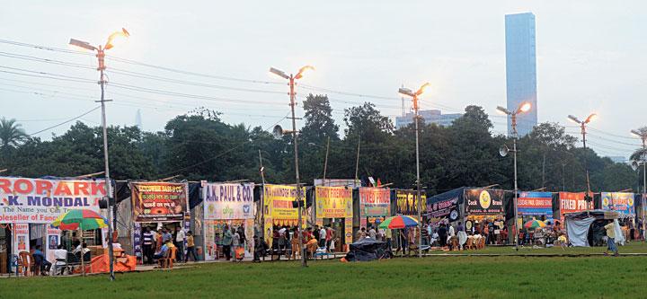 Cracker stalls at Bazi Bazar on the maidan on Saturday