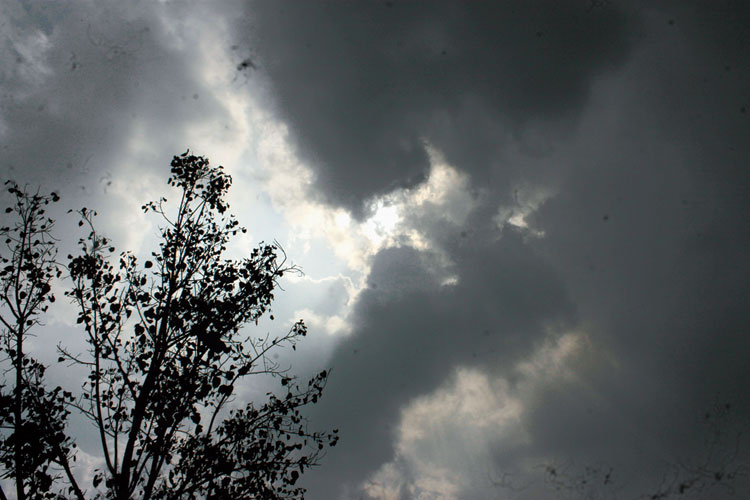 An overcast sky in Jamshedpur on Wednesday.