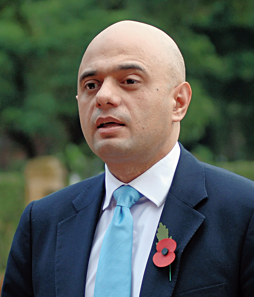 Former chancellor of the exchequer Sajid Javid