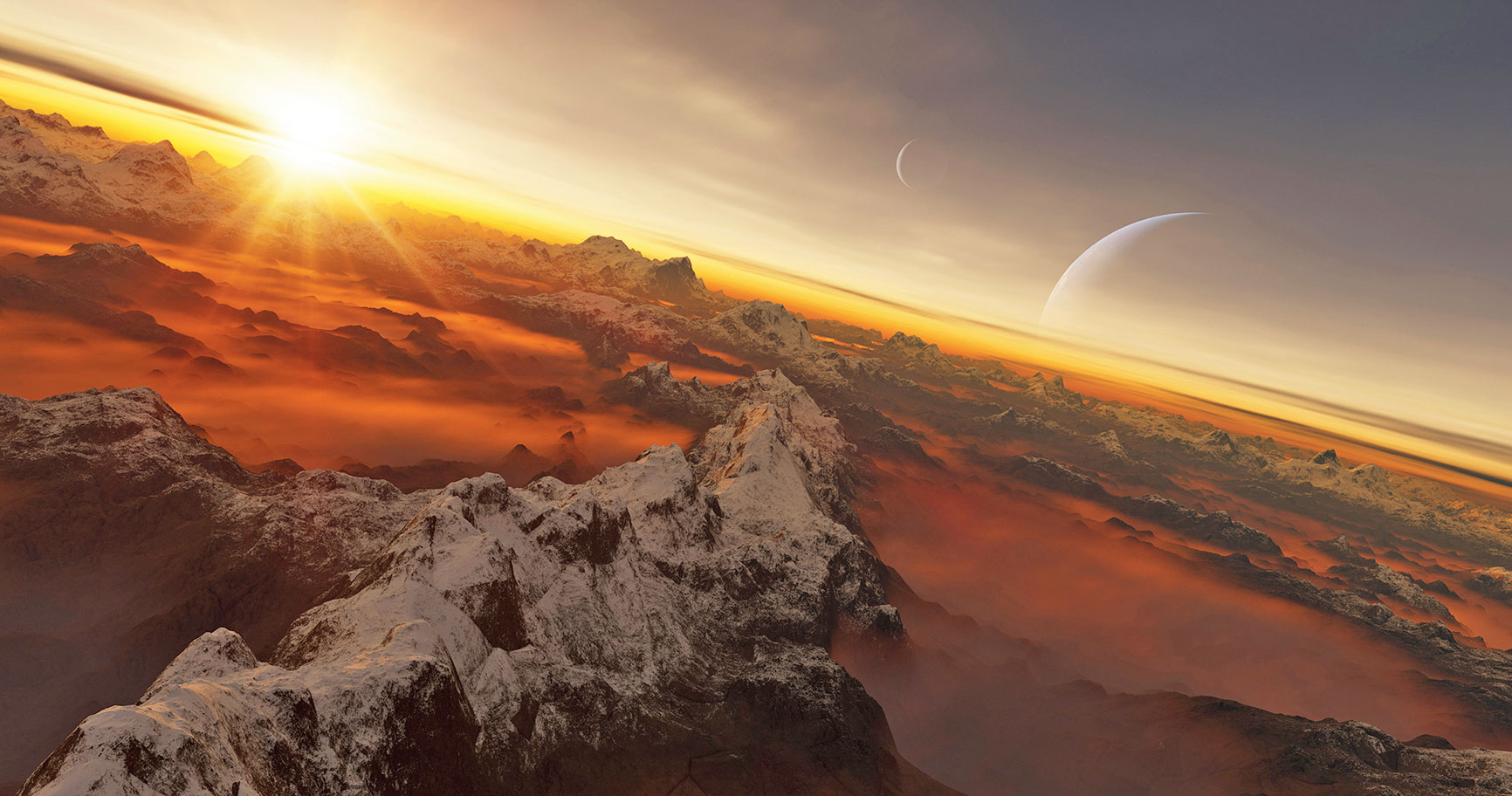 Hello Sauron: A handout image provided by the International Astronomical Union and astronomer Luis Calcada shows a rendering of an exoplanet