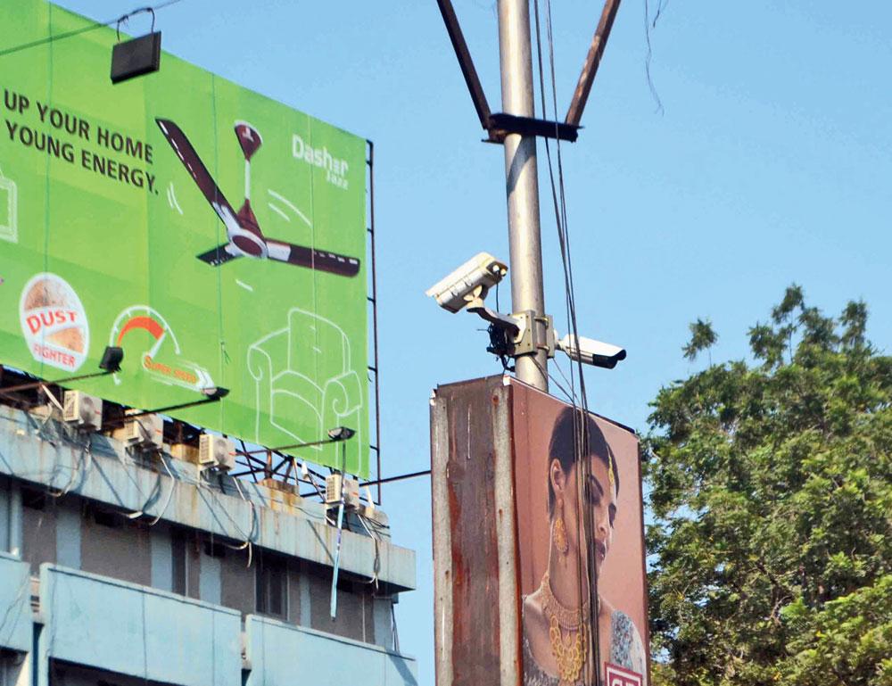 BETTER VIGIL: CCTV cameras installed on Bistupur Main Road in Jamshedpur