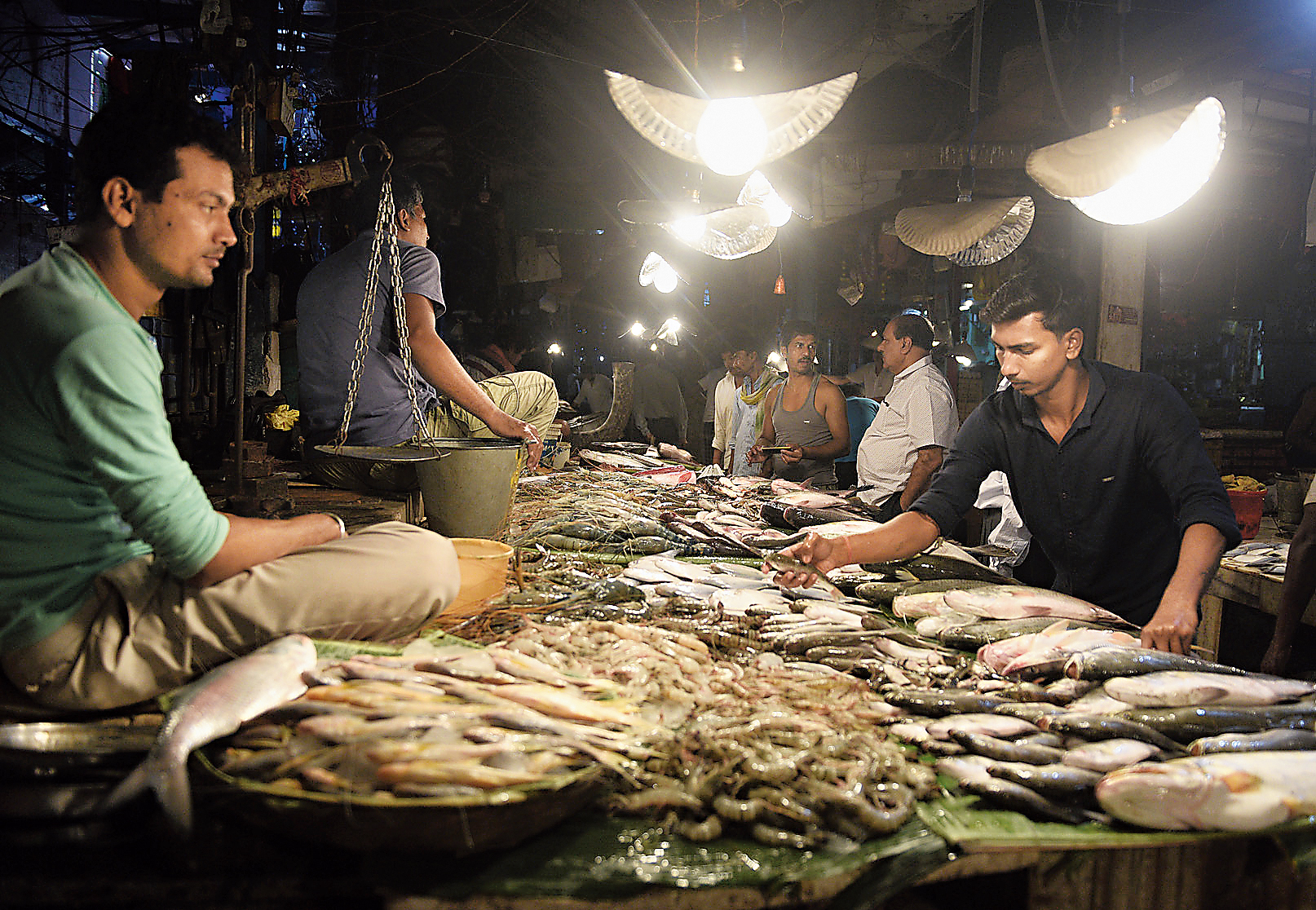Fish on sale at the Maniktala market.
