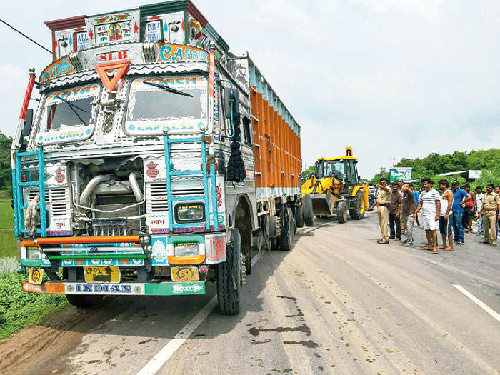 The blackened number plate of the truck that hit the Unnao rape victim's car