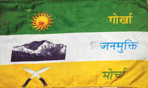Morcha to redesign flag - Telegraph India