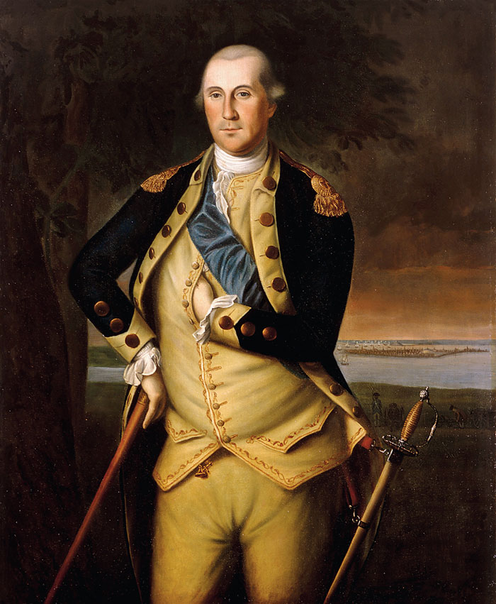A painting of George Washington by Charles Willson Peale