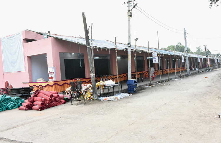 The market complex of Barwadda in Dhanbad on Tuesday where the strongrooms will be set up.